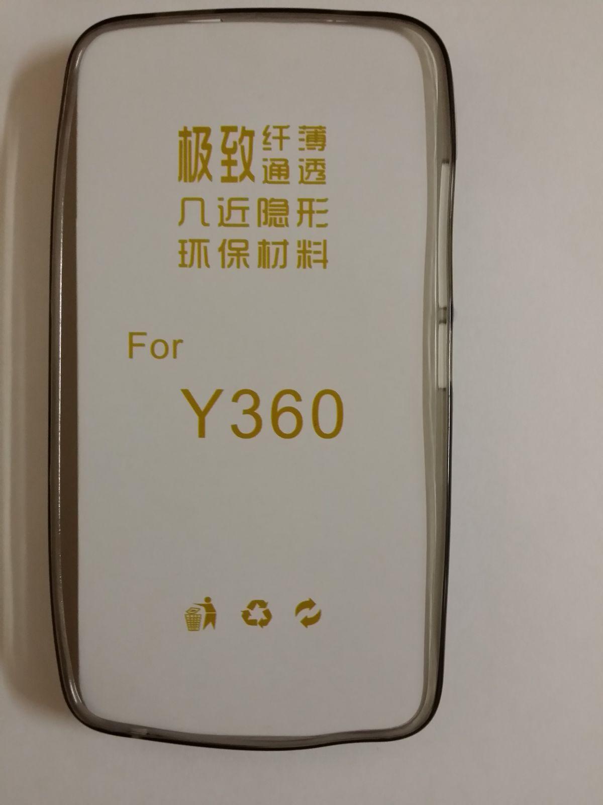 Pouzdro Back Case Ultra Slim 0,3mm Huawei Y360 průhledné šedé ForCell