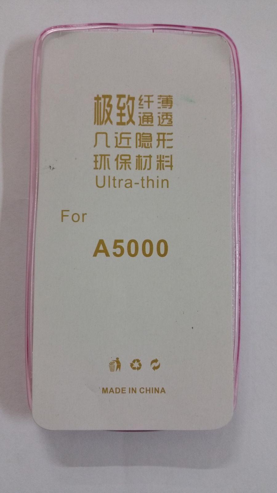 Pouzdro Back Case Ultra Slim 0,3mm Lenovo A5000 průhledné růžové ForCell