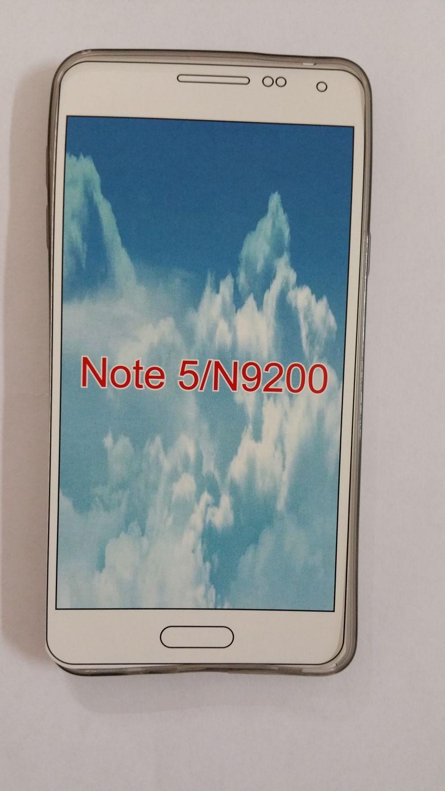 Pouzdro Back Case Ultra Slim 0,3mm Samsung Galaxy Note5/N920 průhledné černé ForCell