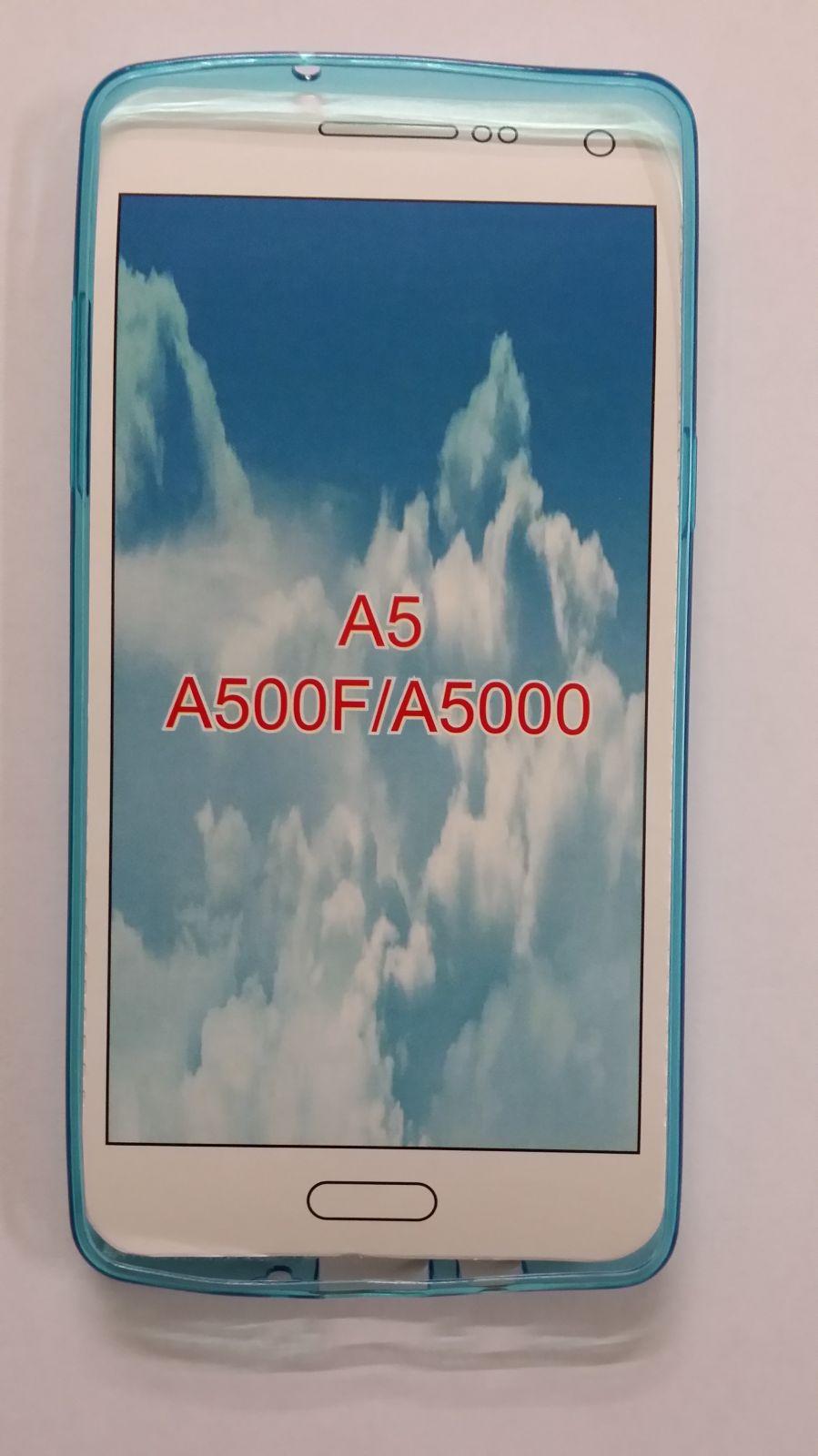 Pouzdro Back Case Ultra Slim 0,3mm Samsung Galaxy A5/A500 průhledné modré ForCell