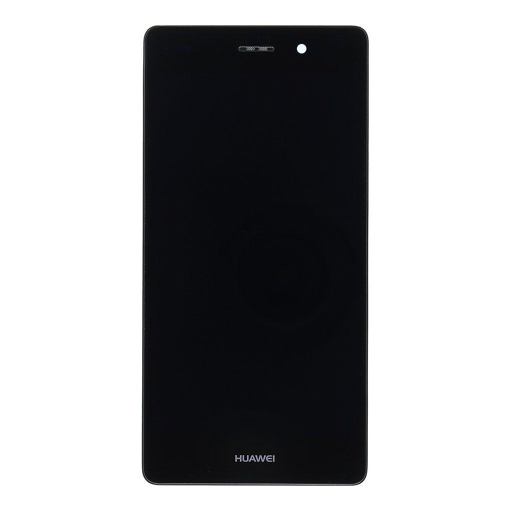 Huawei Ascend P8 Lite LCD Display + Dotyková Deska + Přední Kryt Black