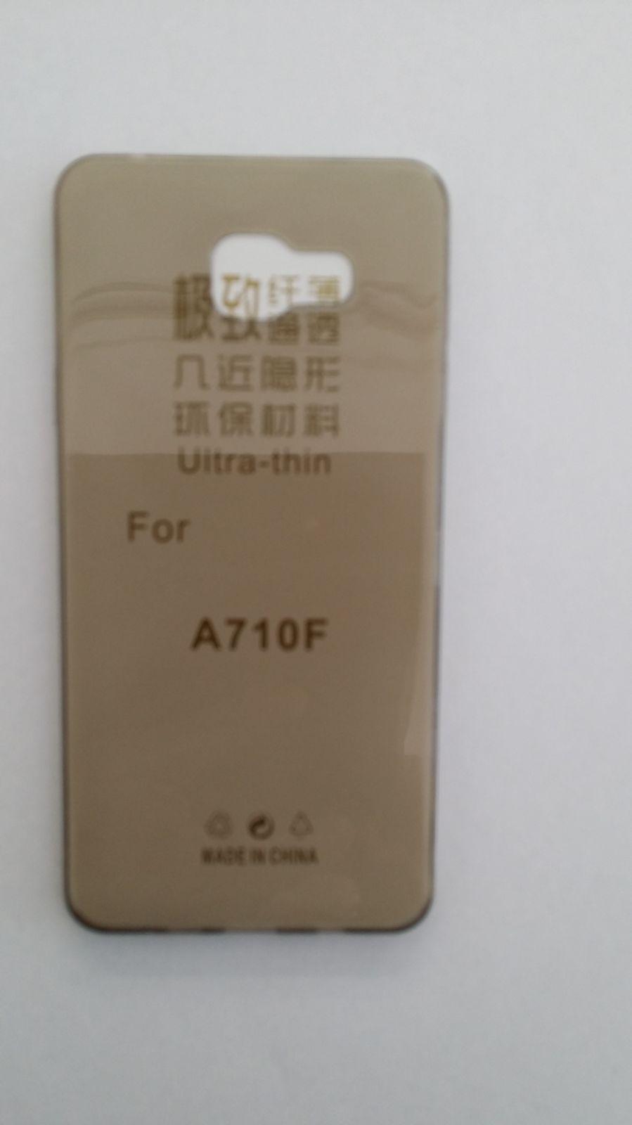 Pouzdro Back Case Ultra Slim 0,3mm Samsung Galaxy A7/A710 šedé ForCell