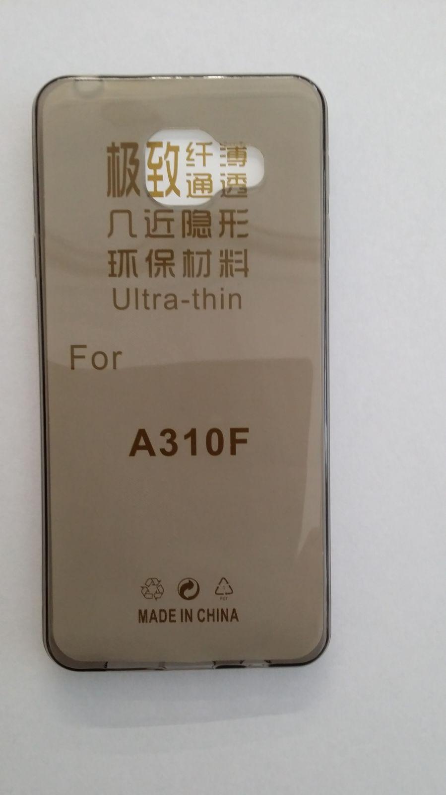 Pouzdro Back Case Ultra Slim 0,3mm Samsung Galaxy A3 (2016)/A310 šedé ForCell