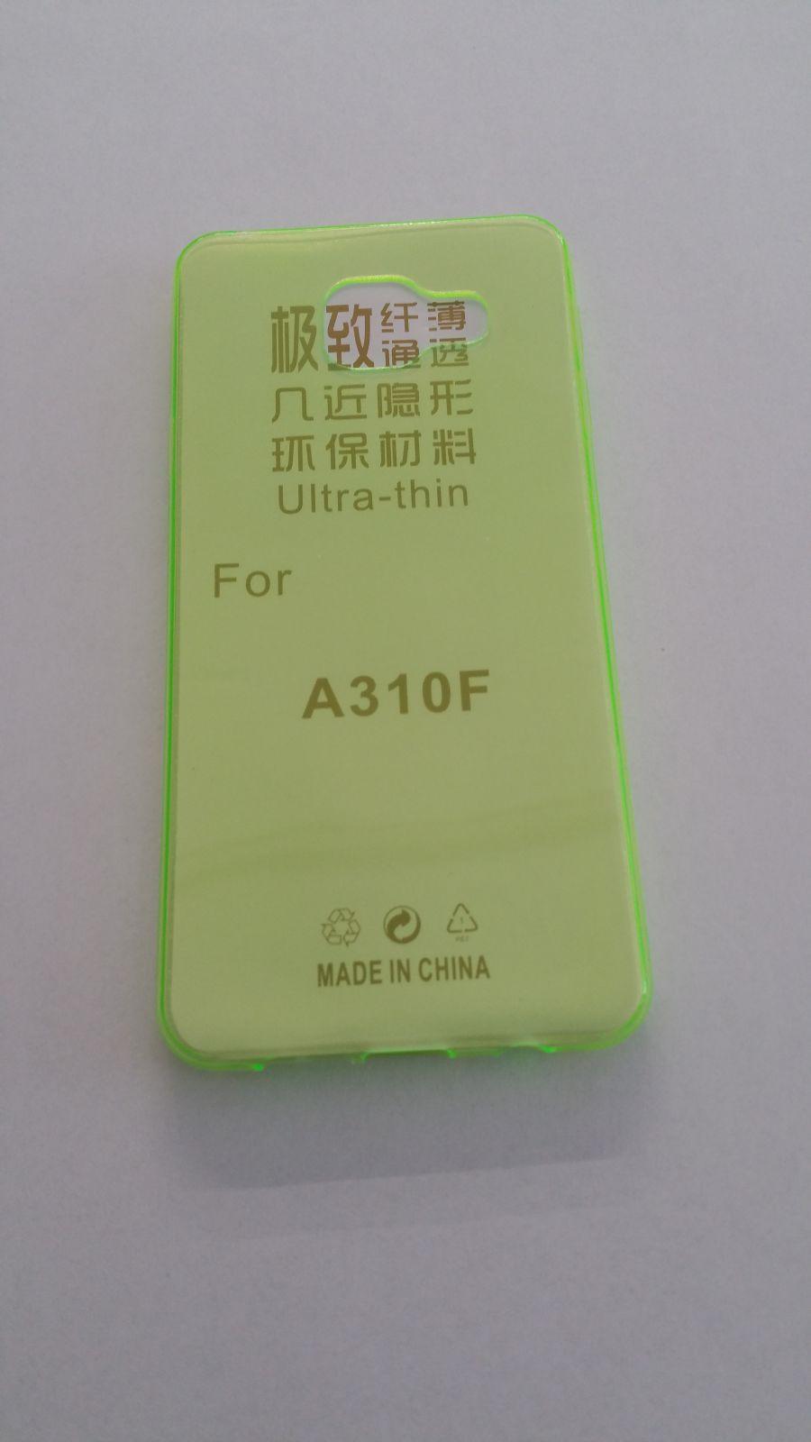 Pouzdro Back Case Ultra Slim 0,3mm Samsung Galaxy A3 (2016)/A310 zelené ForCell