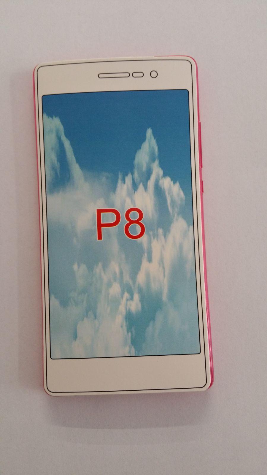 Pouzdro Back Case Ultra Slim 0,3mm Huawei P8 průhledné růžové ForCell