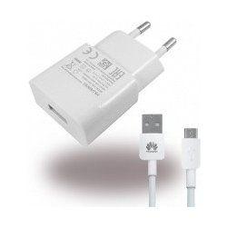 HW-050100E01W Huawei USB Cestovní Dobíječ + microUSB Dat. Kabel White (Bulk)