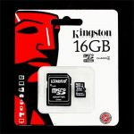 microSDHC 16GB Kingston Class 4 w/a (EU Blister)