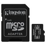 microSDHC 32GB Kingston Canvas Select + w/a (EU Blister)