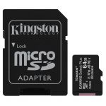 microSDHC 64GB Kingston Canvas Select + w/a (EU Blister)