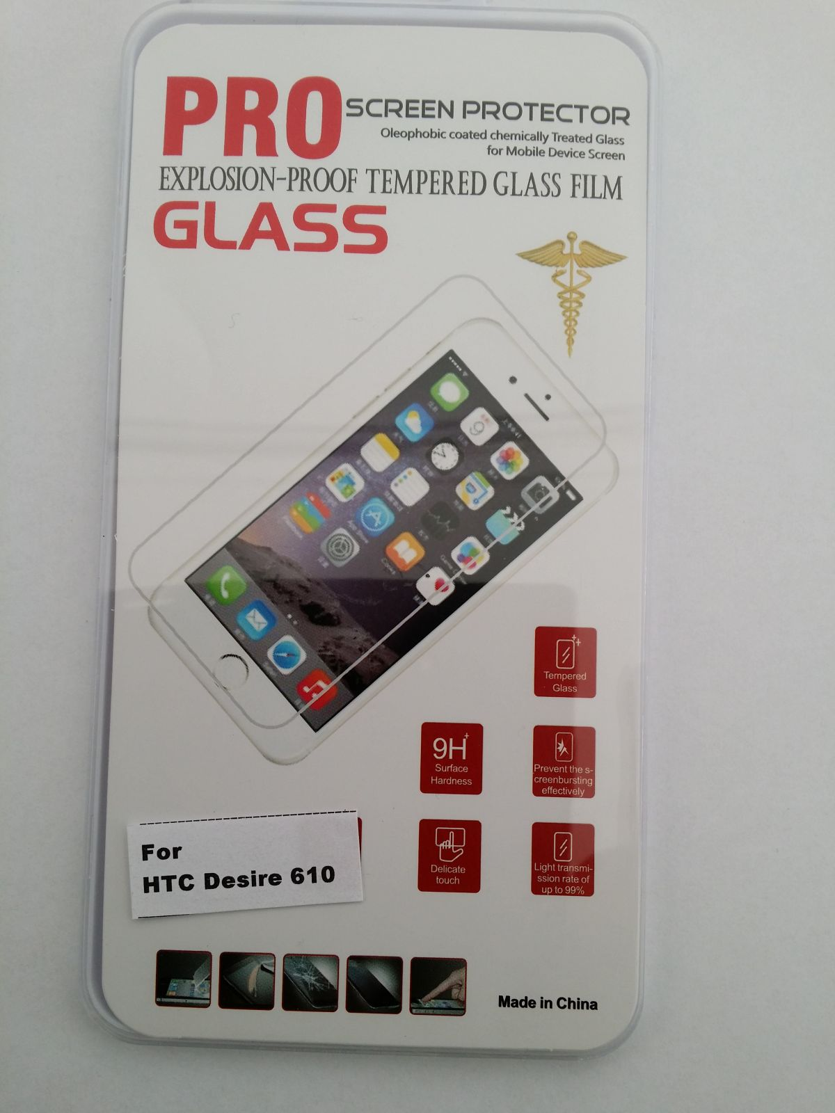 Tvrzené Sklo pro HTC Desire 610 Screen Protector